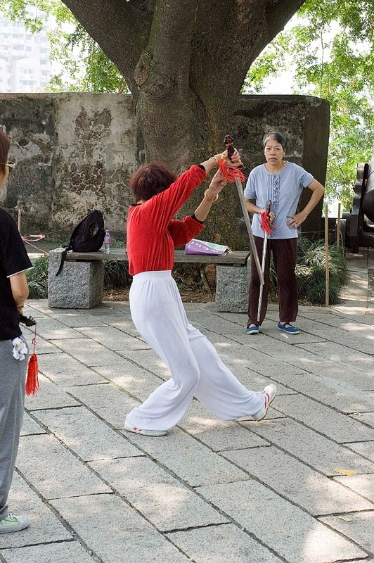 An exercise class in Macau.