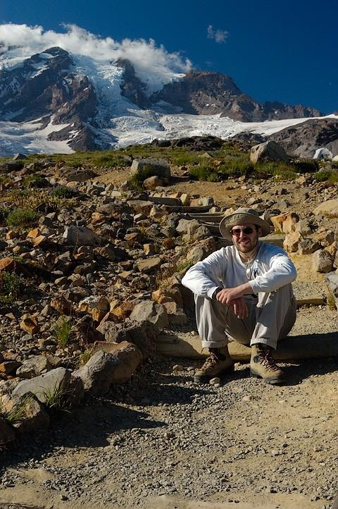 A hiker taking a break.