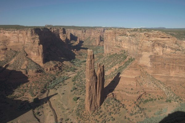 Spider Rock in Canyon de Chelly National Monument.