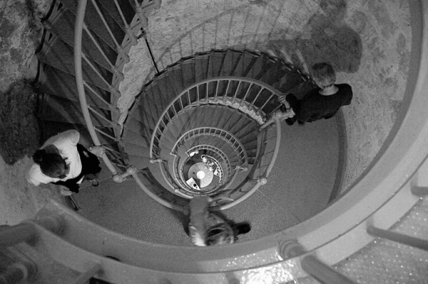 The stairs at the Grays Harbor Light Station.