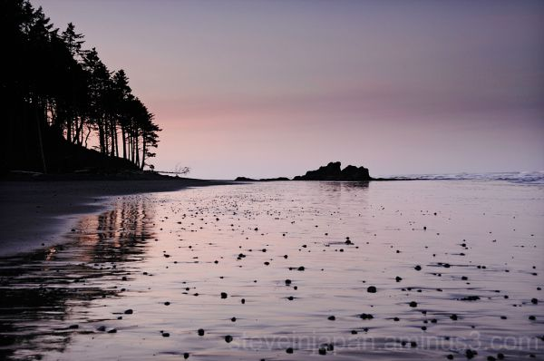 Sunrise at Ruby Beach.