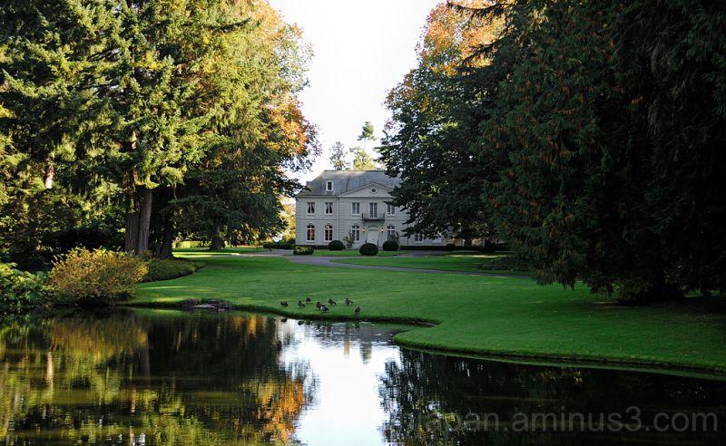 The house at Bloedel Reserve on Bainbridge Island.