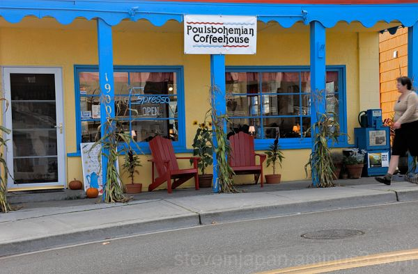 The Poulsbohemian cofee shop in Poulsbo, WA.