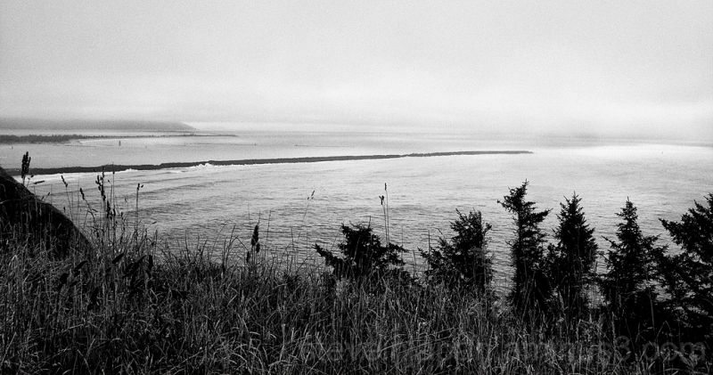 The mouth of the Columbia River.