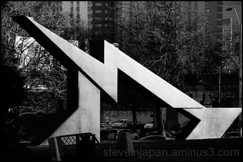 A lightning streak sculpture.