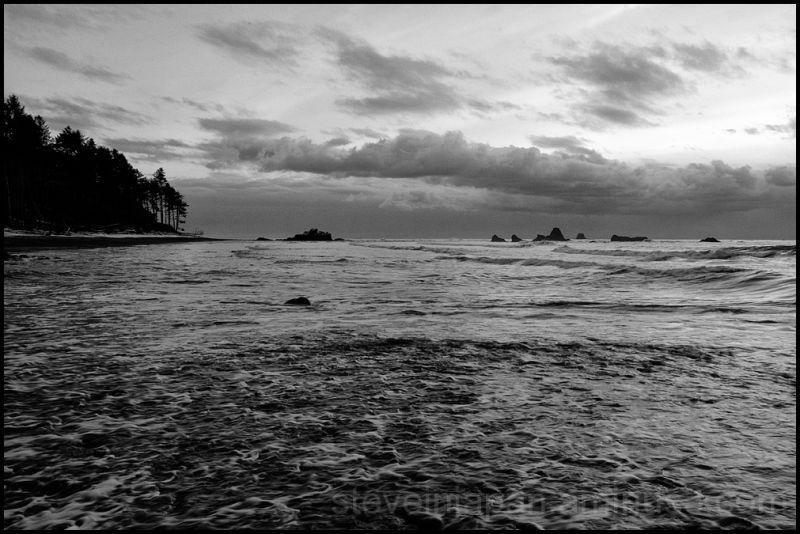 Sunset at Ruby Beach, WA, USA.