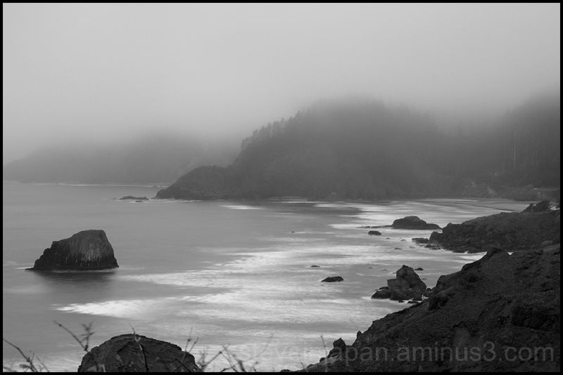 The view north from Tillamook Head.