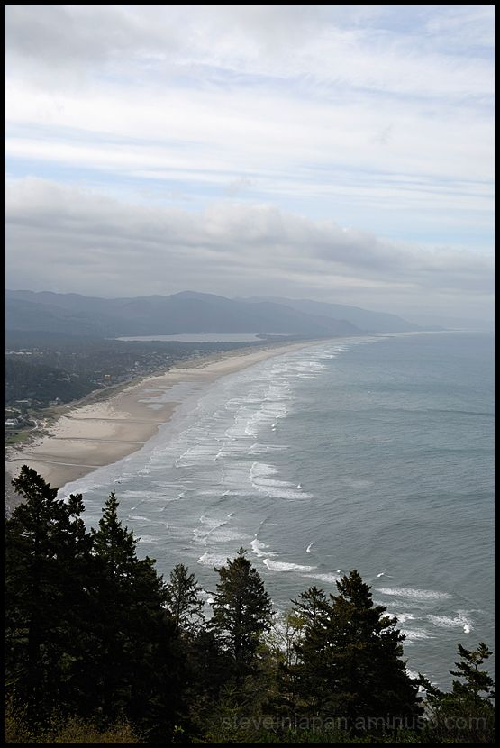 A sweeping view south toward Nehalem Bay.