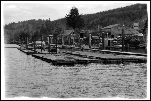 The docks at Wheeler, OR.
