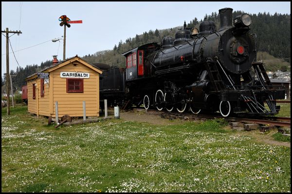 The one room train station at Garibaldi, OR.