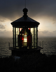 Sunset at Cape Meares Lighthouse