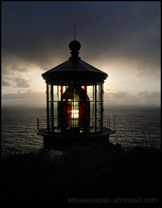 Sunset at Cape Meares Lighthouse.