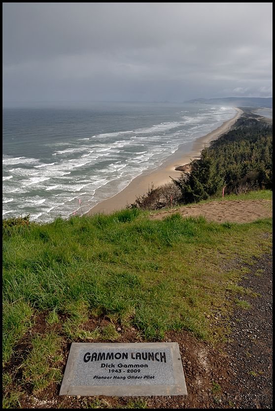 The Oregon coast looking north from Gammon Launch.