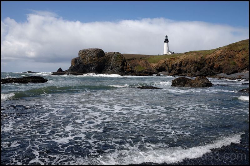 The Yaquina Head Lighthouse on the Oregon coast.