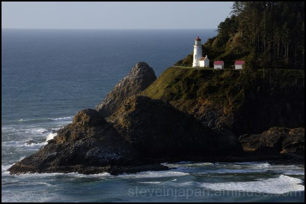 The Heceta Head Lighthouse on the Oregon coast.