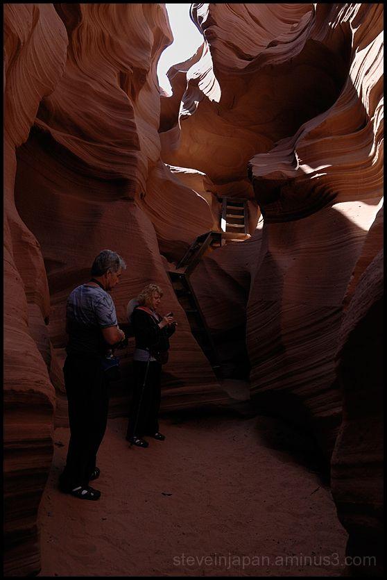 The entrance to Lower Antelope Canyon, Arizona.