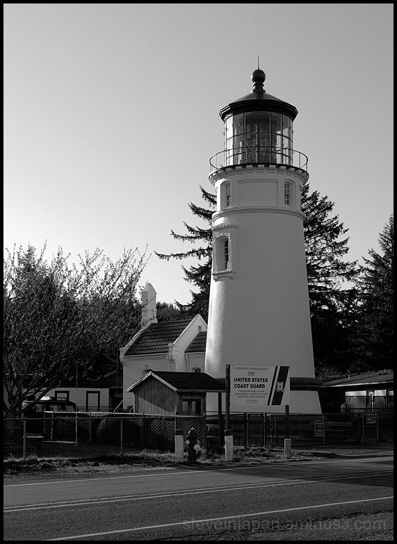 The Umpqua River Lighthouse in Oregon, USA.