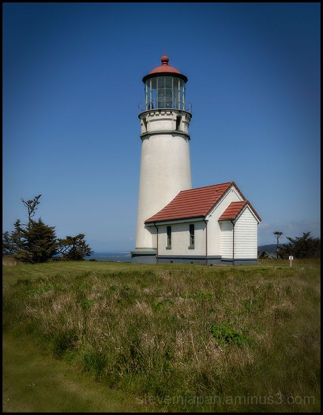 The Cape Blanco Lighthouse in Oregon, USA.