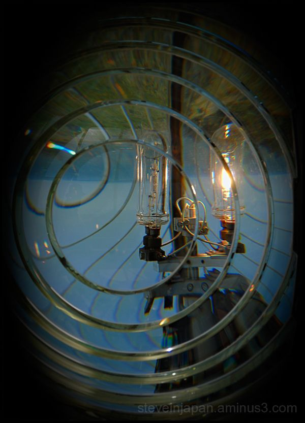 The light at Cape Blanco Lighthouse in Oregon.