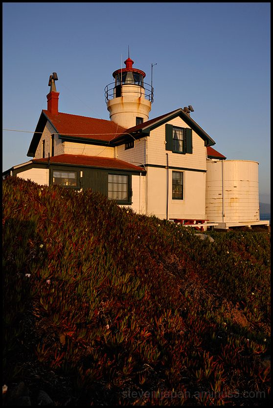 Battery Lighthouse in Crescent City , CA, USA.