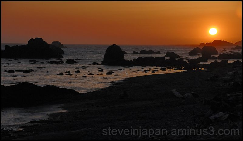 Sunset near Battery Point in Crescent City, CA.