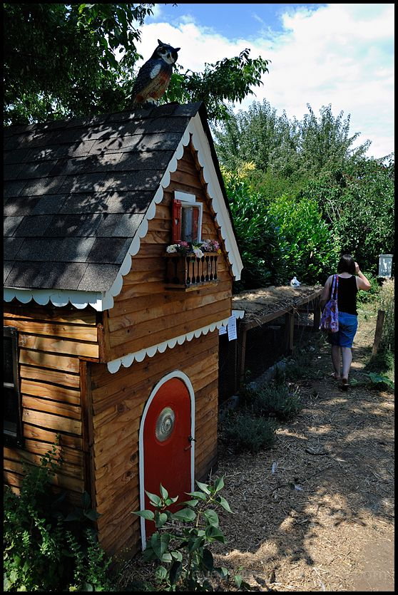 A chicken coop on the Tour de Coops in Portland.