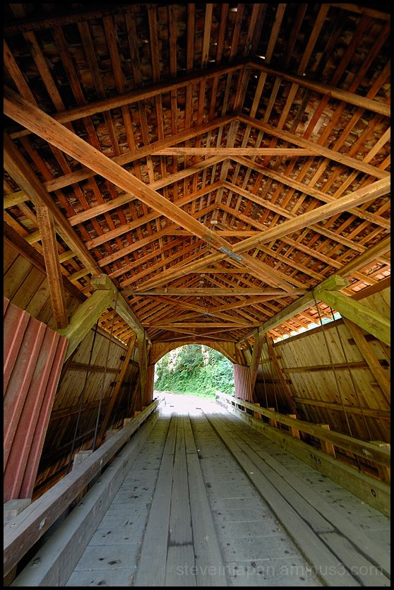 The North Fork Yachats covered bridge in Oregon.