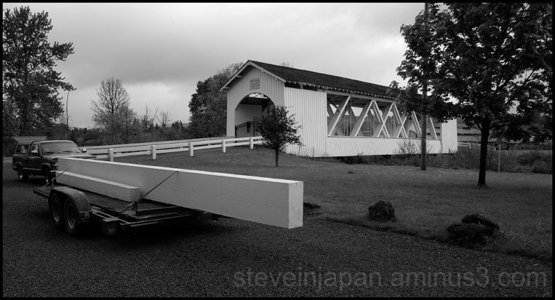 The Weddle covered bridge in Oregon, USA.