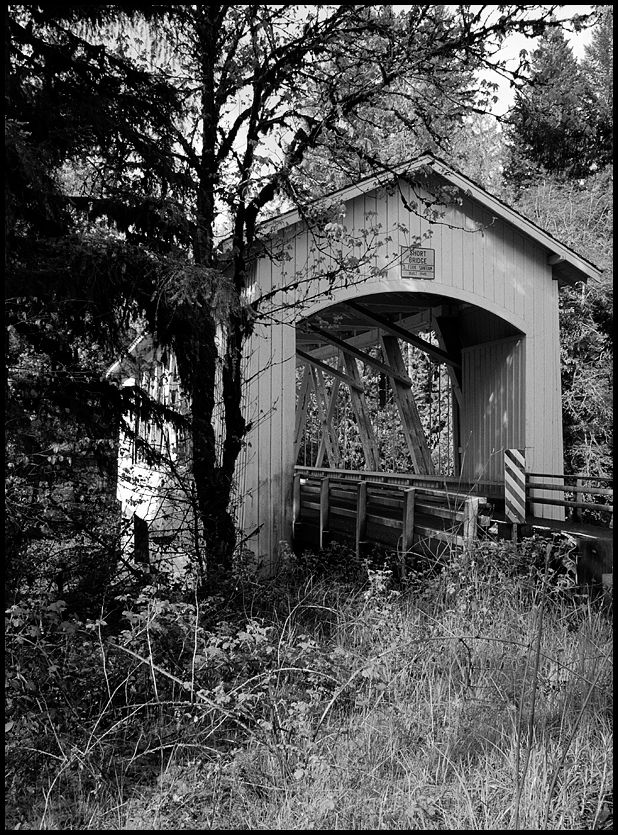 The Short covered bridge in Oregon, USA.