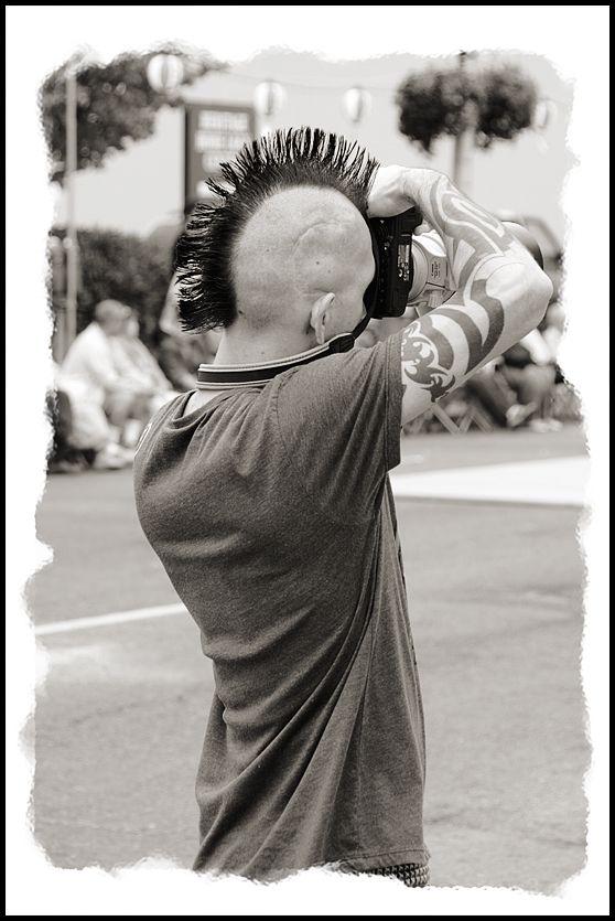 A photographer at Bon Odori in Olympia, WA, USA.