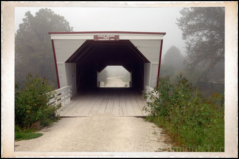 The Cedar covered bridge in Madison County.