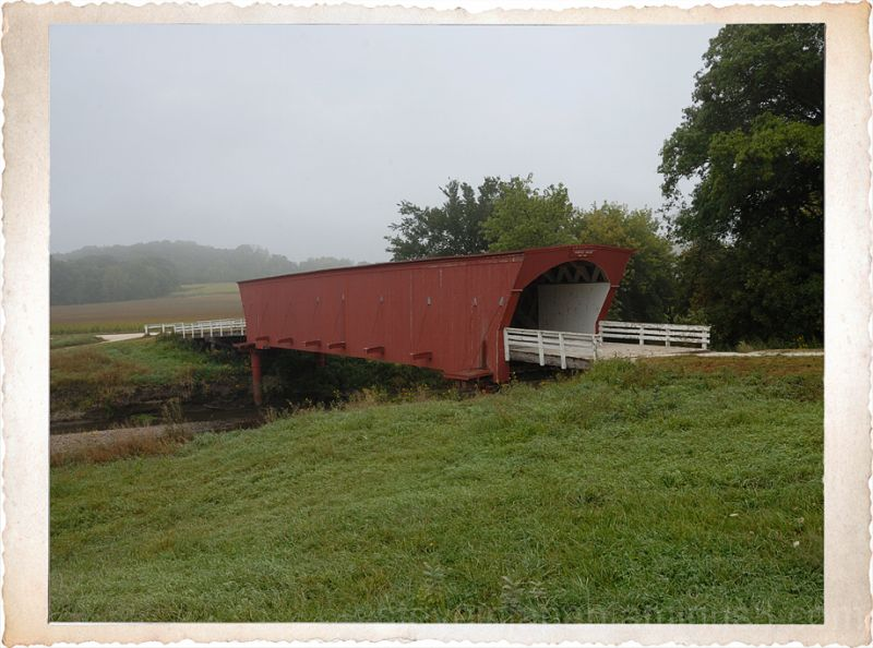 The Hogback covered bridge in Madison County.