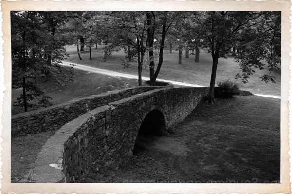 The stone bridge in Winterset, IA.