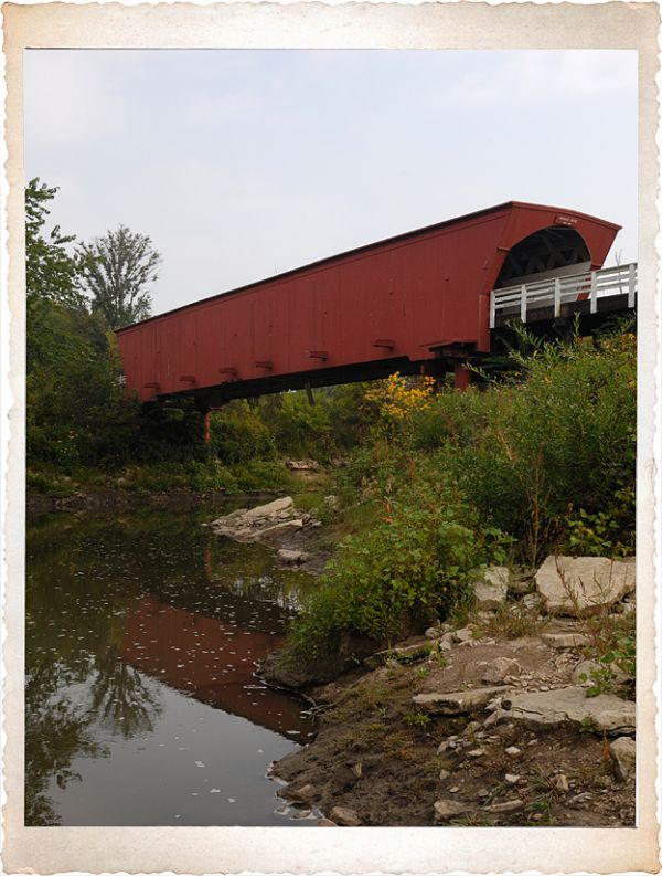 The Roseman covered bridge in Madison County.