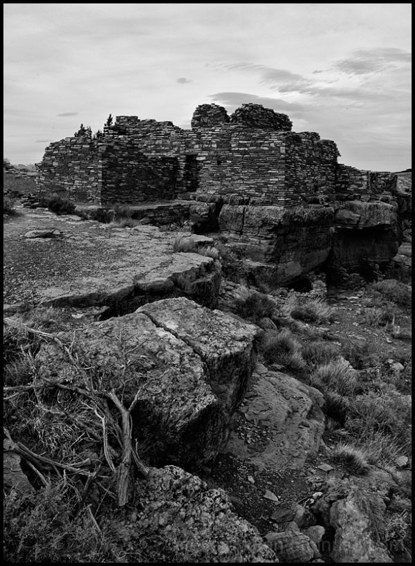 A Box Canyon house at Wupatki National Monument.