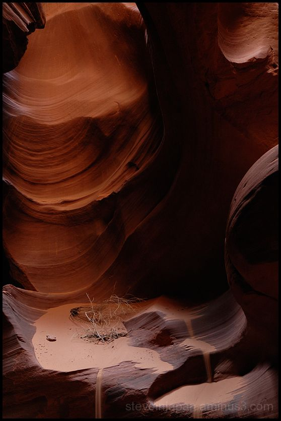 Glowing rocks in Upper Antelope Canyon.