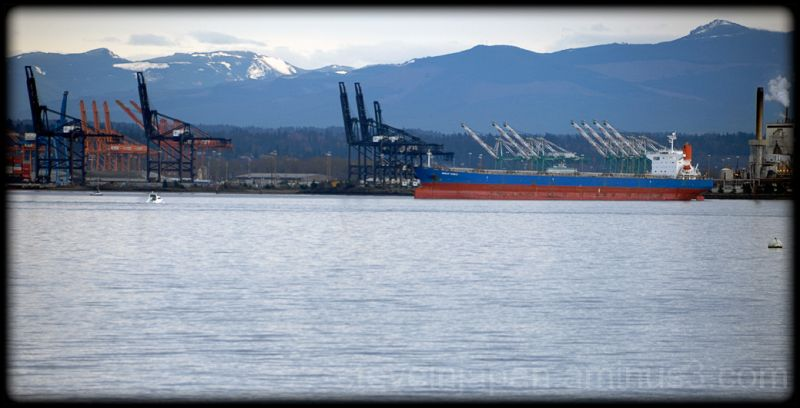 A ship at the Port of Tacoma.