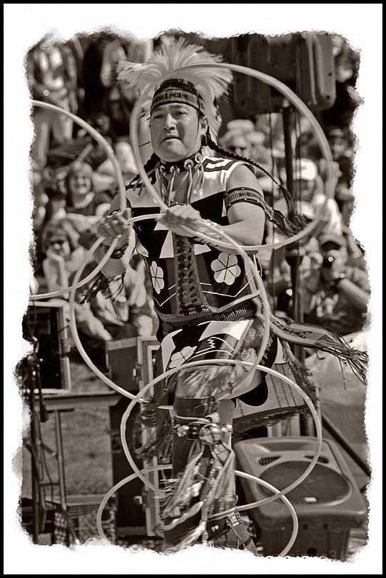 A hoop dancerr at the Heard Museum Indian Market.