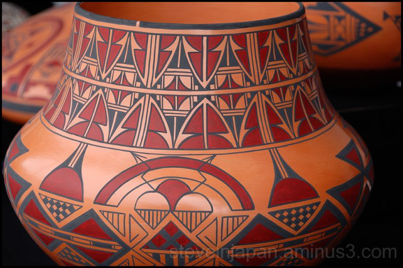 San Felipe pottery at the Heard Museum.