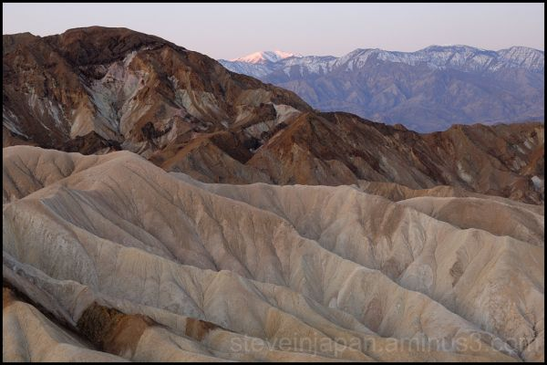 Dawn at Zabriskie Point in Death Valley.
