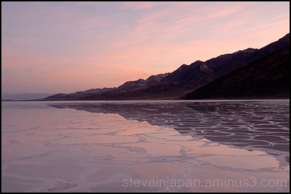 Pastel light at Badwater in Death Valley.