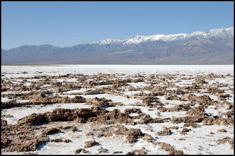 Raised earth at Badwater in Death Valley.