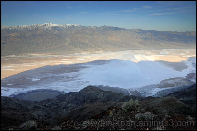 Sunrise from Dante's View in Death Valley.