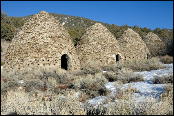 The Wildrose charcoal kilns at Death Valley.