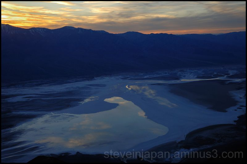Sunset from Dante's View in Death Valley.