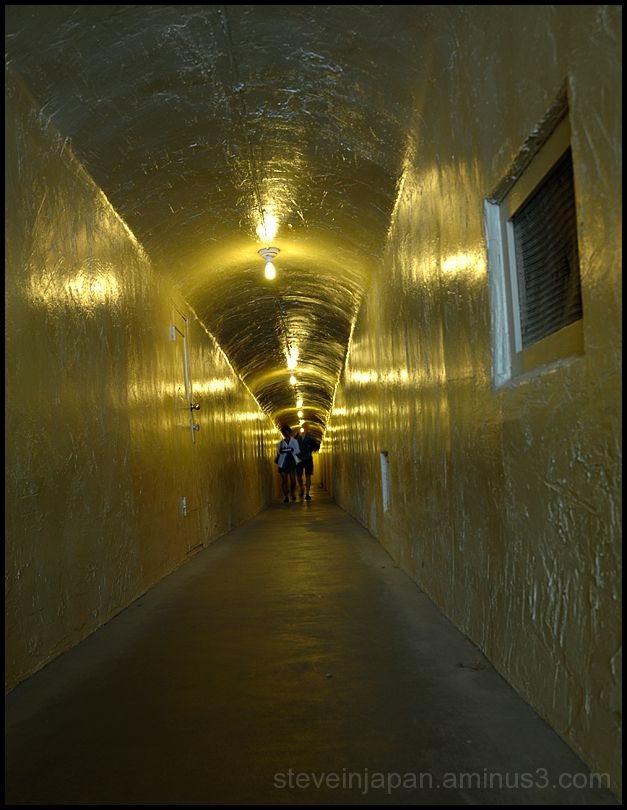 A tunnel at Furnace Creek Inn in Death Valley.