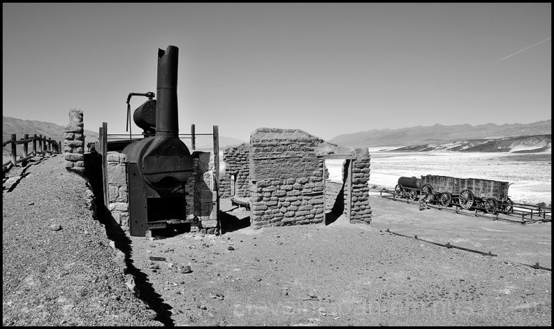 The Harmony Borax Works in Death Valley.