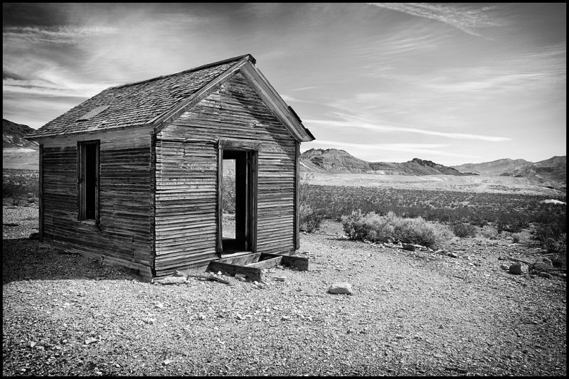A small house in Rhyolite, Nevada.