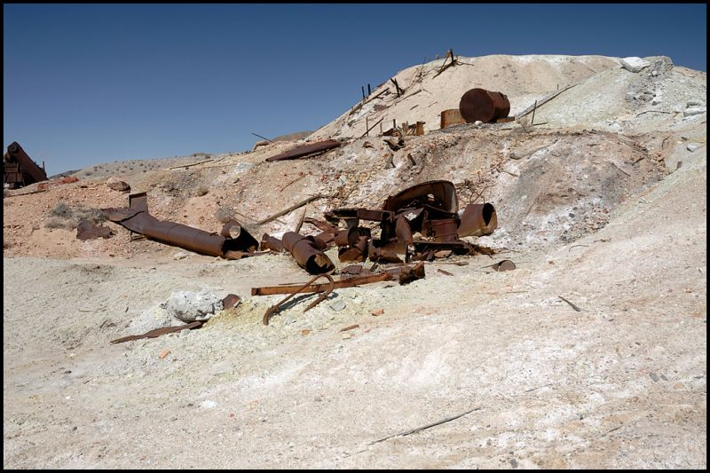 An old sulfur mine in Death Valley.