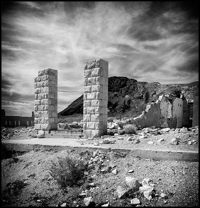 The Overbury Bank in Rhyolite, Nevada.